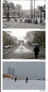 Examples of snow Monday in BCN