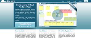 Edistorm - free online brainstorming tool