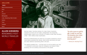 Ginsberg Project Website