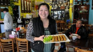 Rose Hung, owner of Ha Noi Quan Vietnamese noodle shop at Marrickville in Sydney's inner west. Picture: Dan Himbrechts Source: The Australian