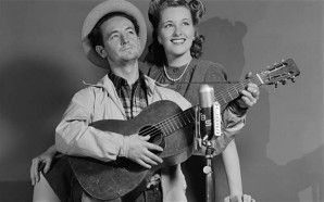 Dust bowl troubadour: Woody Guthrie with Margaret Johnson in October 1940 Photo: CBS via Getty images